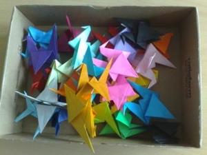 cranes in a box